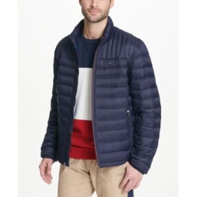 トミー ヒルフィガー メンズ ジャケット・ブルゾン アウター Men's Down Quilted Packable Puffer Jacket Midnight Navy
