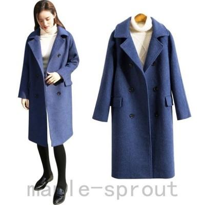 チェスターコート レディース 中綿コート ロングコート ポケット付き 長袖 無地 ゆったり