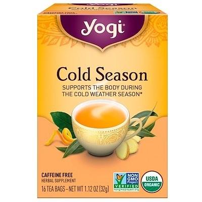 オーガニック, 寒い季節, カフェインフリー, 16ティーバッグ, 1.12オンス(32 g)