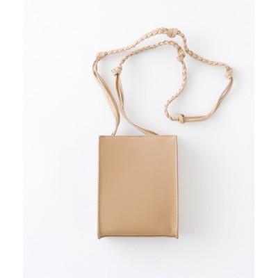 Craft Nicholson / シンセティックレザー スクエア 編み込みショルダーバッグ(スムース/クロコ/リザード) MEN バッグ > ショルダーバッグ