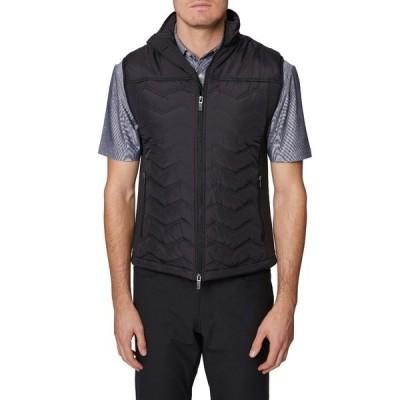 ヒッキーフリーマン メンズ ジャケット&ブルゾン アウター Chevron Quilted Vest BLACK