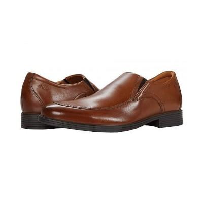 Clarks クラークス メンズ 男性用 シューズ 靴 ローファー Whiddon Step - Dark Tan Leather
