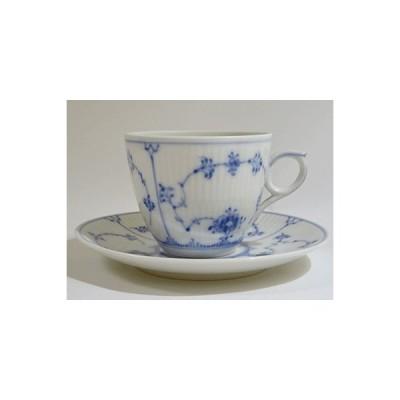 ロイヤルコペンハーゲン ブルーフルーテッドプレイン コーヒーカップソーサー(旧No.2162)(2)