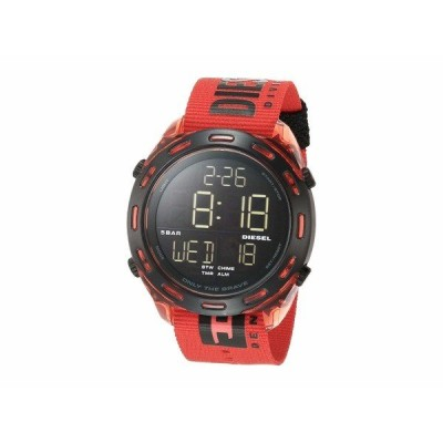 ディーゼル 腕時計 アクセサリー メンズ Crusher Digital Watch Red