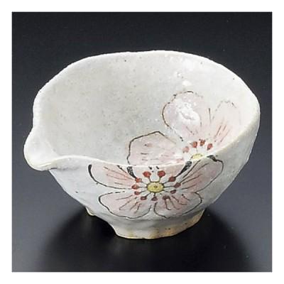 粉引彩花片口小付 ピンク 和食器 小鉢(12cm以下) 業務用 約10.5cm 和食 和風 鉢 とろろ 納豆鉢 サラダ