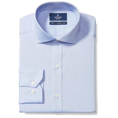 バトゥンド ダウン メンズ シャツ トップス Tailored Fit Cutaway Collar Solid Non-Iron No Pocket Dress Shirt