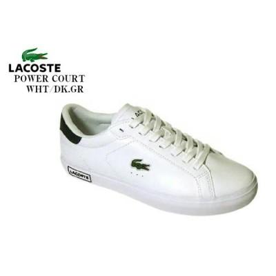 (ラコステ)LACOSTE POWER COURT 0520 SM00600 メンズ レザー カジュアルコートスニーカー シンプルなホワイトデザインを基調としながらも、ア