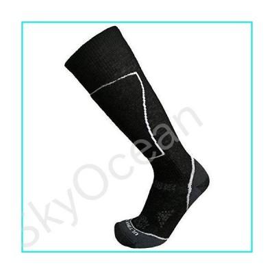 Ultimate Socks Womens Lightweight Merino Wool Ski Snowboard Performance Black Medium 7-9.5【並行輸入品】