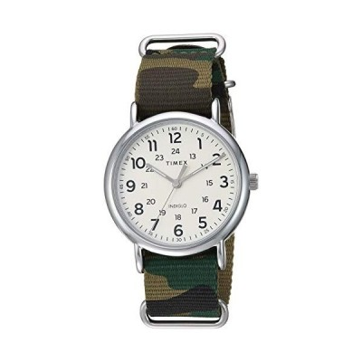 腕時計 タイメックス メンズ TW2T308009J Timex Men's TW2T30800 Weekender 40mm Green Camo Nylon Slip-