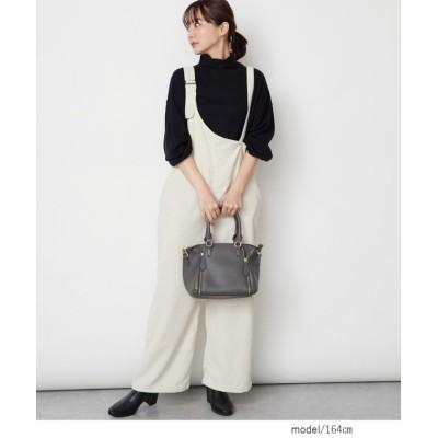 (Rejoule/リジュール)【2020秋冬新作 】コーデュロイ  ワンショルダーサロペット/レディース アイボリー