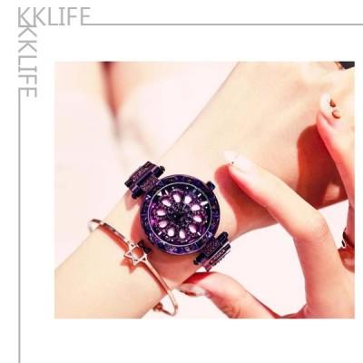 アポロABORNIは、女性のスチールベルト韓国のファッショントレンドの女性がクォーツ時計を見る時計を実行する新しい時間