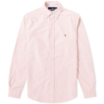 ラルフ ローレン Polo Ralph Lauren メンズ シャツ スリム ワイシャツ トップス slim fit button down oxford shirt Pink