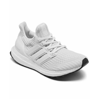 アディダス レディース スニーカー シューズ Women's UltraBOOST DNA Primeblue Running Sneakers from Finish Line White Black