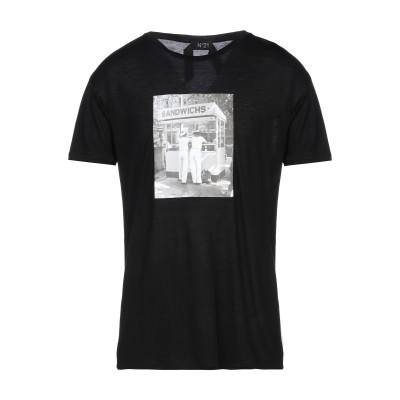 ヌメロ ヴェントゥーノ N°21 T シャツ ブラック XS レーヨン 100% T シャツ