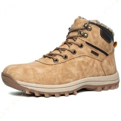 ウインターブーツ メンズ 防寒靴 ムートンブーツ スノーブーツ 雪靴 冬用ブーツ 裏ボア 暖かい 撥水 脱ぎ履きやすい 厚底 軽量 クッション性 防水性抜群