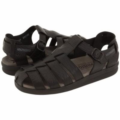 メフィスト Mephisto メンズ サンダル シューズ・靴 Sam Black Full Grain Leather