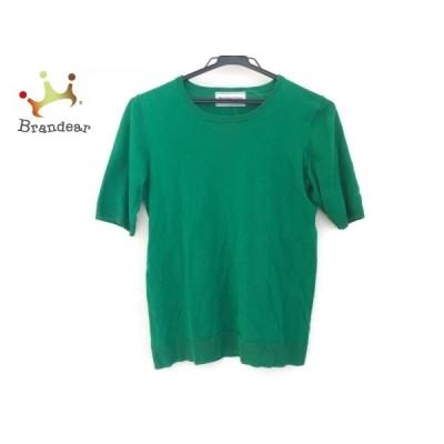 ドゥーズィエム DEUXIEME CLASSE 半袖セーター レディース - グリーン クルーネック   スペシャル特価 20210420