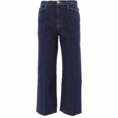 フレーム Frame レディース ジーンズ・デニム ワイドパンツ ボトムス・パンツ Ali Wide Crop Denim Pants Blue