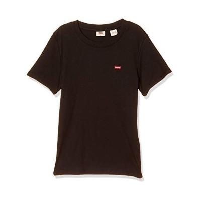 [リーバイス] クルーネックTシャツ リブ ロゴ 半袖 TEE レディース 37697-0001 Blacks US XS (日本サイズS相