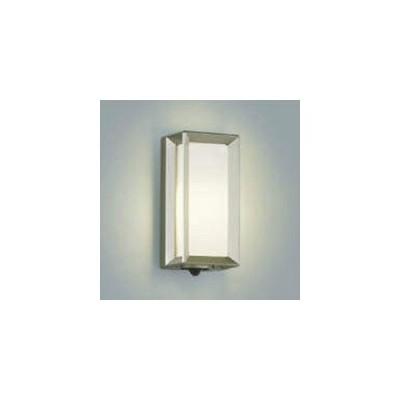 コイズミ照明 LEDポーチ灯 防雨型 白熱球40W相当 電球色 タイマー付人感センサ付 ウォームシルバー AU40409L