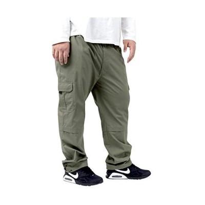 [ファーストダウン] カーゴパンツ メンズ 大きいサイズ ズボン イージーパンツ 無地 イージー (カーキ 2L)