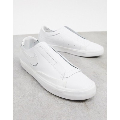 ナイキ レディース スニーカー シューズ Nike Blazer Low Kickdown sneakers in triple white