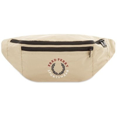フレッドペリー Fred Perry Authentic メンズ ボディバッグ・ウエストポーチ バッグ Laurel Logo Waist Bag Stone