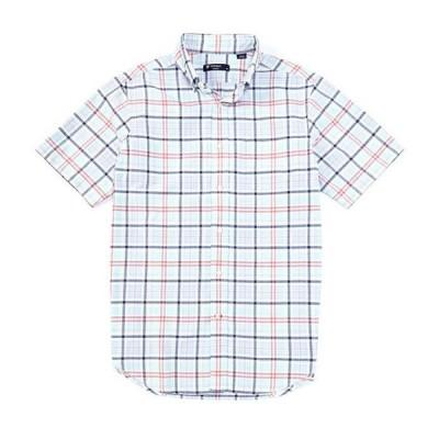 ダニエル クレミュ メンズ シャツ トップス Short-Sleeve Plaid Oxford Woven Shirt