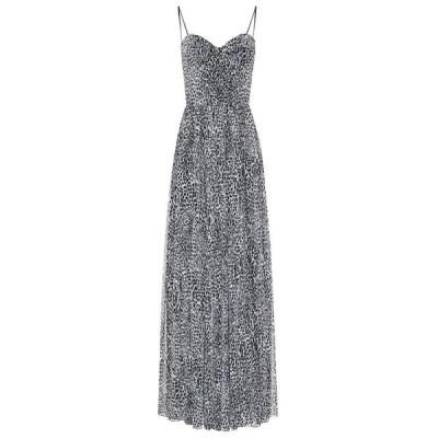 ロサリオ RASARIO レディース ワンピース ワンピース・ドレス Leopard-print crepe dress Grey