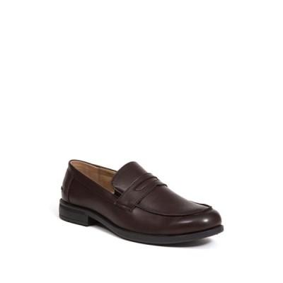 ディアースタッグス メンズ スリッポン・ローファー シューズ Fund Faux Leather Penny Loafer - Wide Width Available DARK BROWN