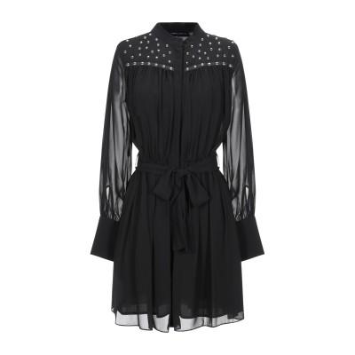フランキー モレロ FRANKIE MORELLO ミニワンピース&ドレス ブラック 42 ポリエステル 100% ミニワンピース&ドレス