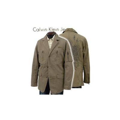【値下げしました】Calvin Klein Jeans カルバンクライン ミリタリー ジャケット バック刺繍 (#MF38J19)