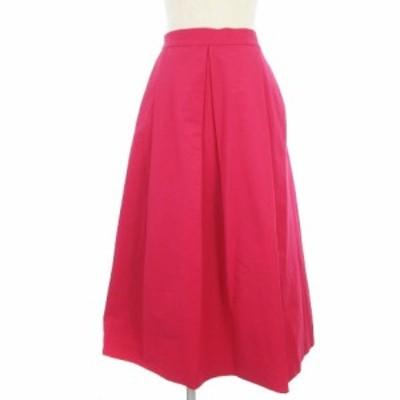 【中古】B&Y ユナイテッドアローズ ビューティー&ユース グログラン タック ロング スカート 1624-207-3076 ピンク