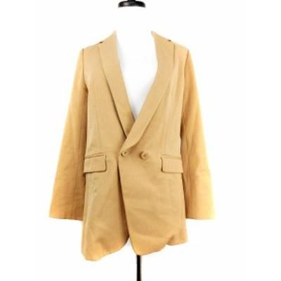 【中古】PROPORTION BODY DRESSING ジャケット テーラード 無地 2 茶 ブラウン /M2 レディース