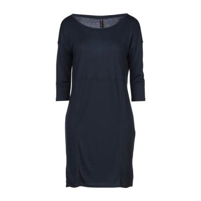 マニラ グレース MANILA GRACE ミニワンピース&ドレス ダークブルー 1 テンセル 100% / コットン ミニワンピース&ドレス