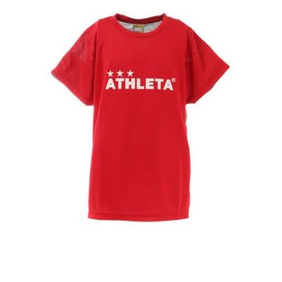 アスレタ(ATHLETA)サッカー ウェア 半袖 ジュニア Tシャツ プラクティスシャツ 2344J RED フットサルウェア