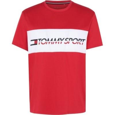 トミーヒルフィガー TOMMY SPORT メンズ Tシャツ トップス t-shirt logo driver sports bras and performance tops Red