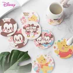 【網狐家居】迪士尼Disney 櫻花祭 方型 圓型 珪藻土吸水杯墊 2入一組(相同款式)