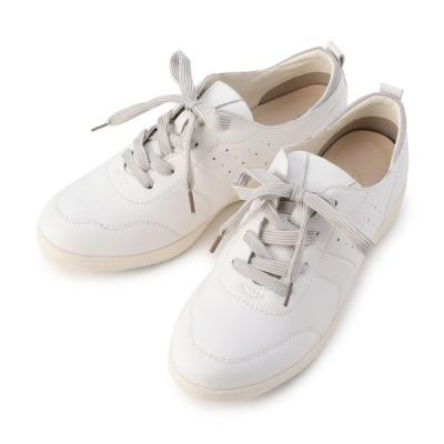 アシックス商事株式会社 レディース 【在庫限り】footsuki カジュアルシューズ 紐 ホワイト 22.5cm