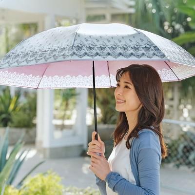 ベルーナ 晴雨兼用シルバーコーティング折りたたみ傘 ピンク 1 レディース