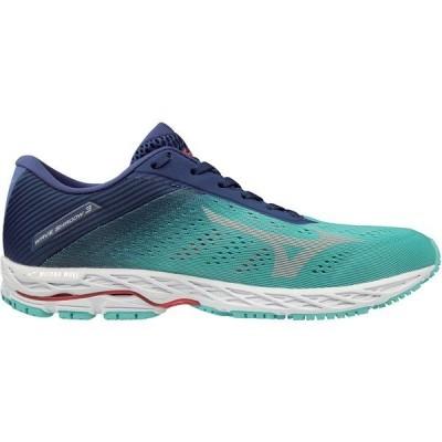 ミズノ スニーカー シューズ レディース Mizuno Women's Wave Shadow 3 Running Shoes Blue Grass/Glacier Gray