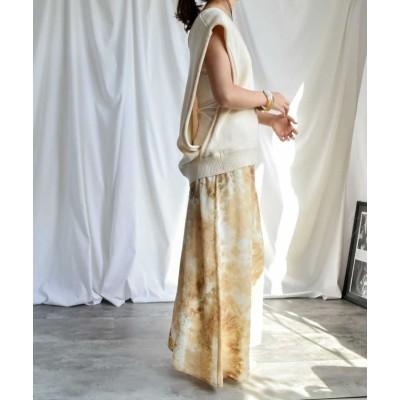 (ARGO TOKYO/アルゴトウキョウ)Printed skirt 222043 プリントスカート スカート ロングスカート シフォンスカート レオパードスカート ダルメシアンスカート マキシスカート/レディース ベージュ
