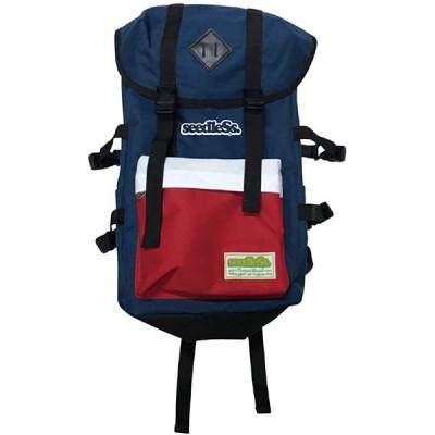 (シードレス) seedleSs coverd バックパック バッグ ニューカラー 鞄 back pack (ブルーホワイトレッド)