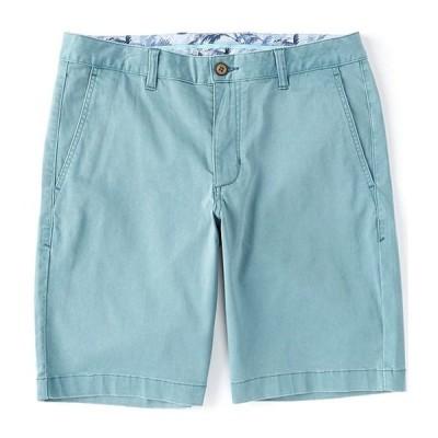 トッミーバハマ メンズ ハーフパンツ・ショーツ ボトムス Flat-Front Straight-Fit Stretch Sateen 10#double; Inseam Boracay Shorts