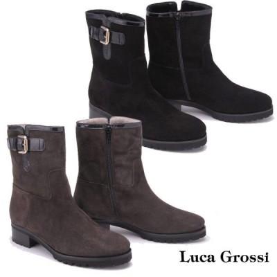 LUCA GROSSI ルーカグロッシ ショートブーツ 別注デザイン  ヒール3.5cm 4615T