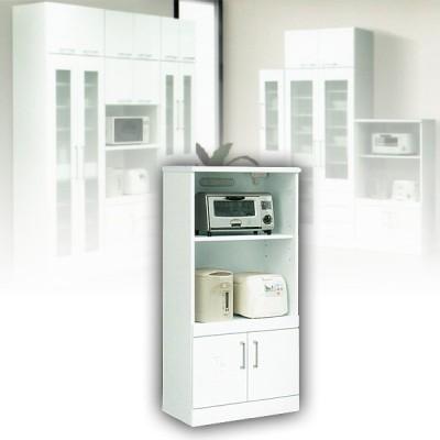 キッチン収納 レンジ台 60幅 ミドルタイプ レンジボード ホワイト 白
