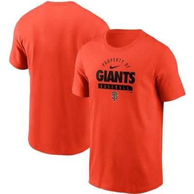 サンフランシスコ・ジャイアンツ Nike Primetime Property Of Practice T-シャツ - Orange