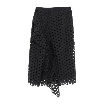 ヌメロ ヴェントゥーノ N°21 7分丈スカート ブラック 40 ポリエステル 100% 7分丈スカート