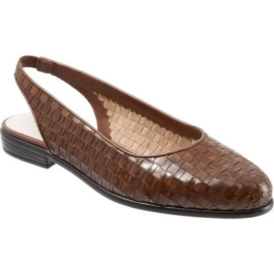 トロッターズ Trotters レディース スリッポン・フラット シューズ・靴 Lucy Sling Back Flats Cognac