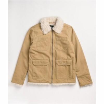 エンパイア EMPYRE レディース ジャケット アウター Empyre Lila Tan Sherpa Lined Jacket Beige/khaki